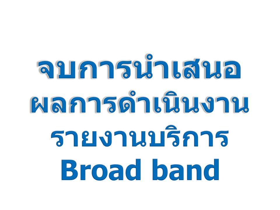 รายงานบริการBroad band