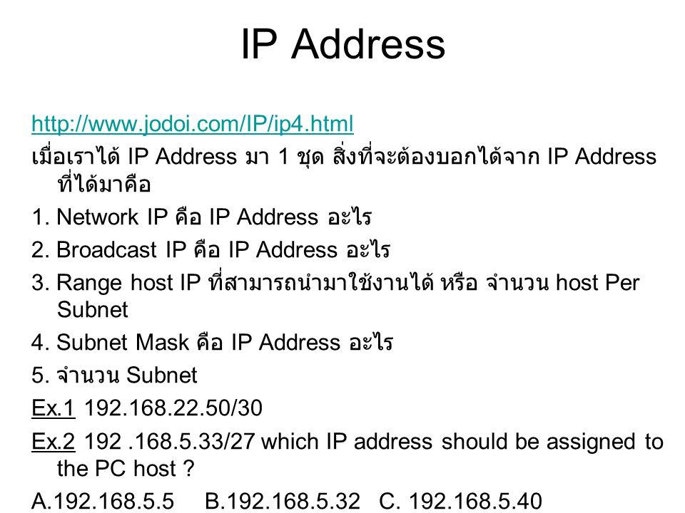 IP Address http://www.jodoi.com/IP/ip4.html
