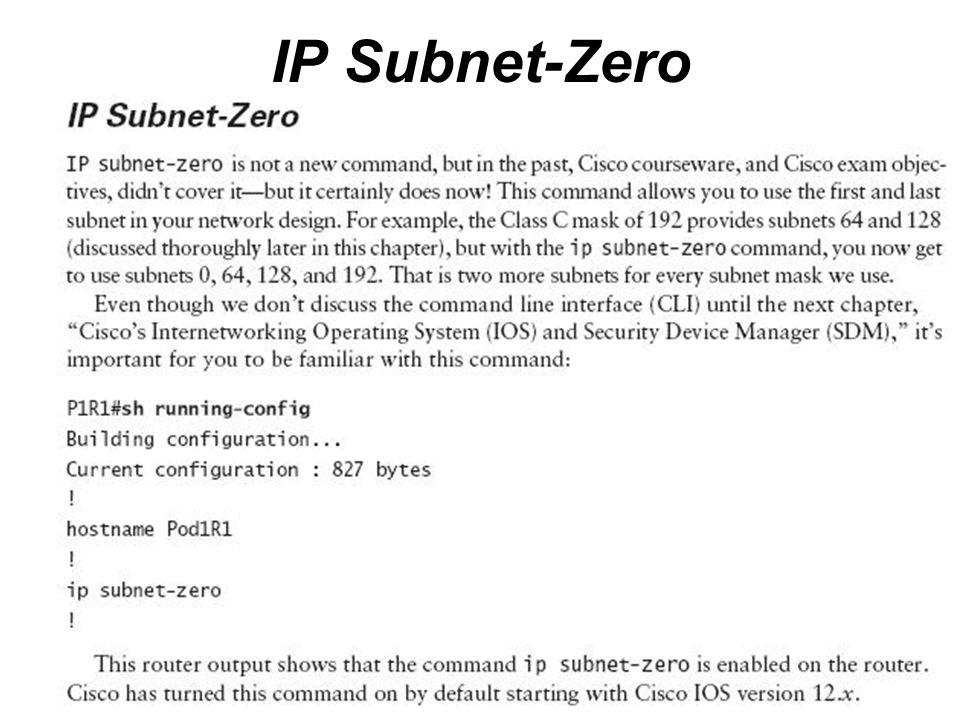 IP Subnet-Zero