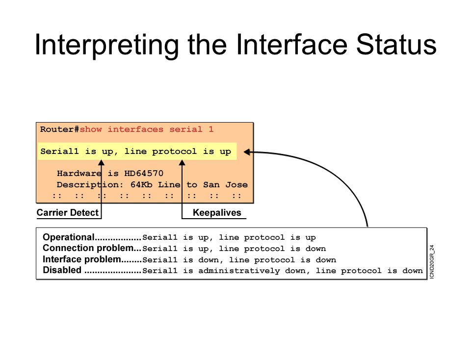 Interpreting the Interface Status