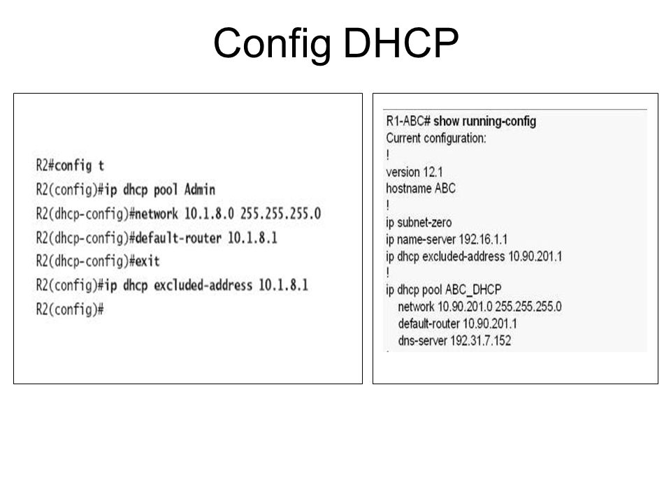 Config DHCP
