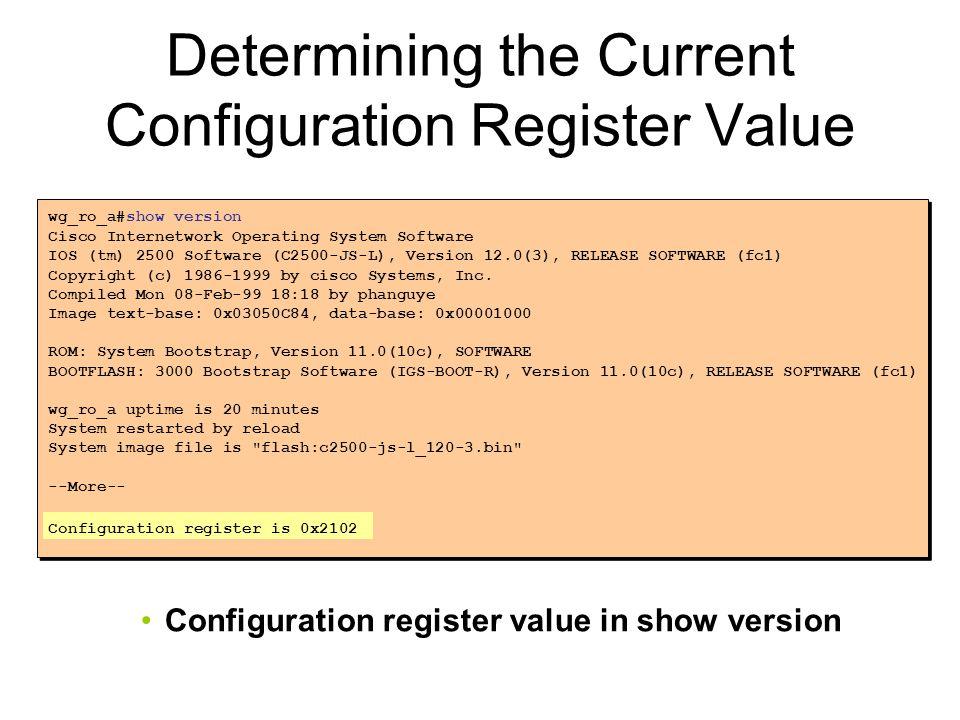 Determining the Current Configuration Register Value
