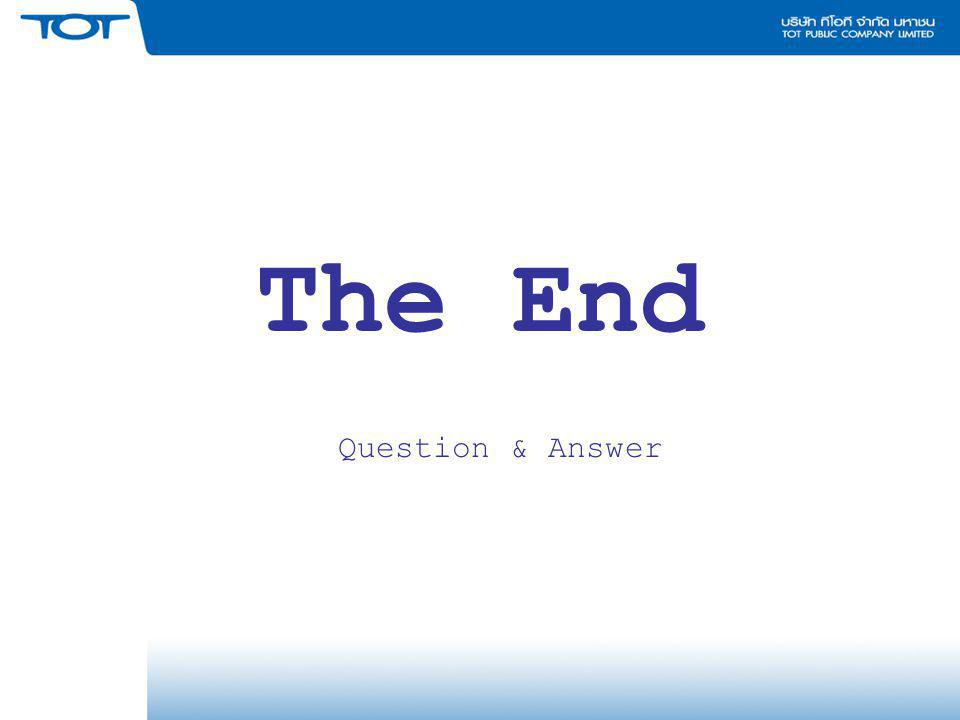 The End Question & Answer