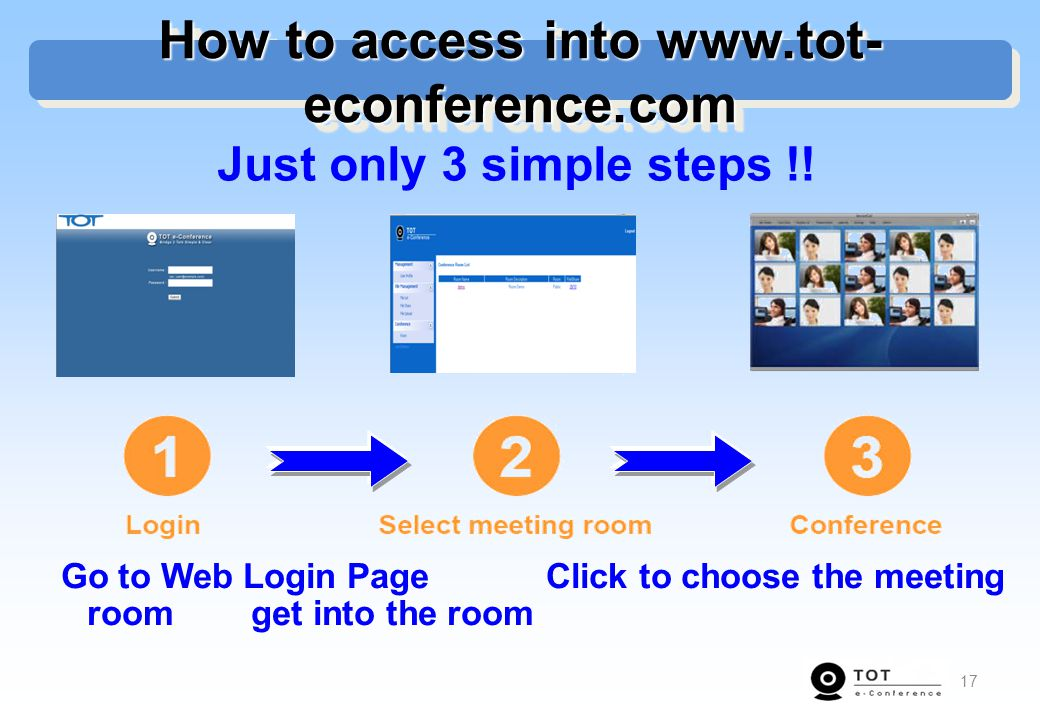 How to access into www.tot-econference.com