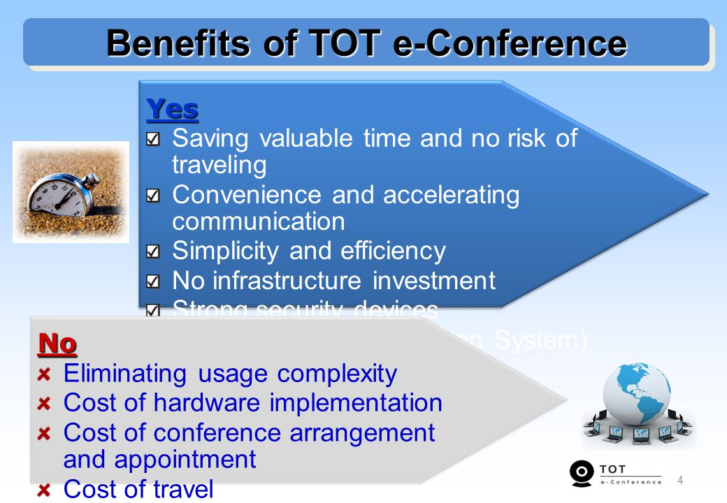 Benefits of TOT e-Conference