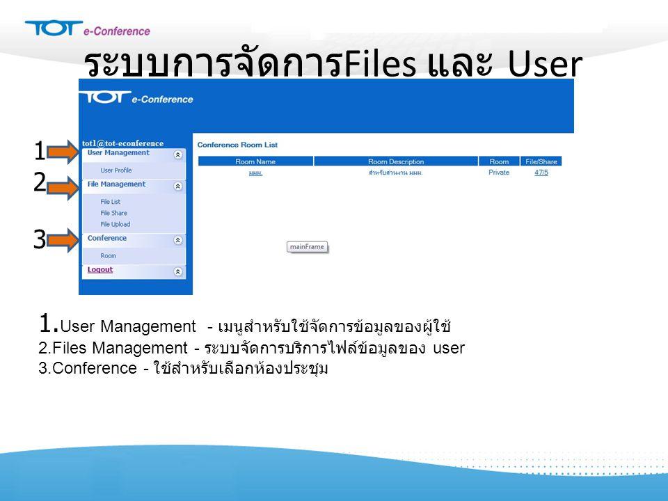 ระบบการจัดการFiles และ User