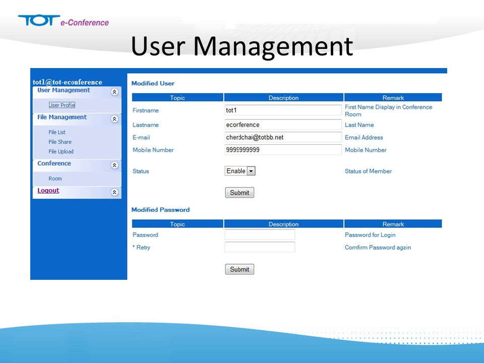 User Management