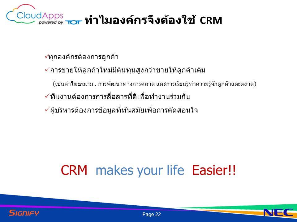 ทำไมองค์กรจึงต้องใช้ CRM