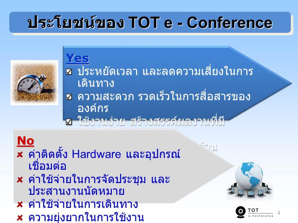 ประโยชน์ของ TOT e - Conference