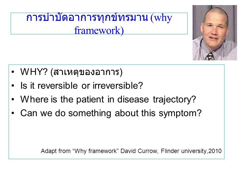 การบำบัดอาการทุกข์ทรมาน (why framework)