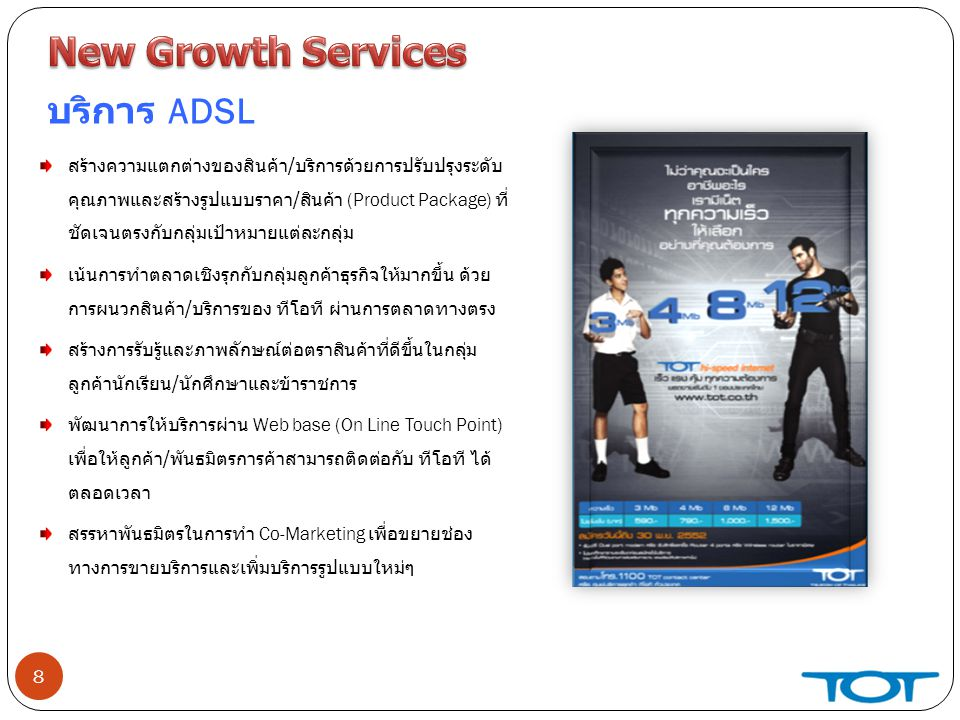 New Growth Services บริการ ADSL
