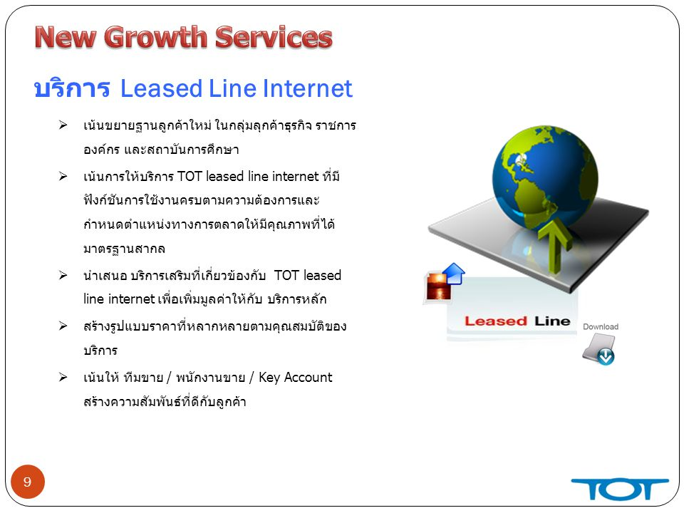 New Growth Services บริการ Leased Line Internet