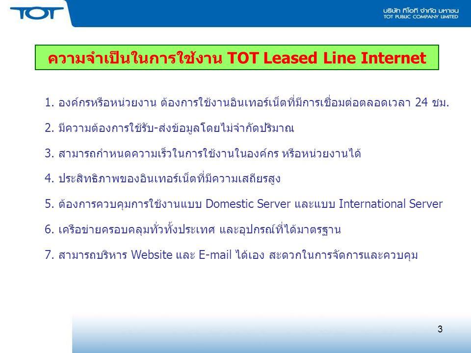 ความจำเป็นในการใช้งาน TOT Leased Line Internet
