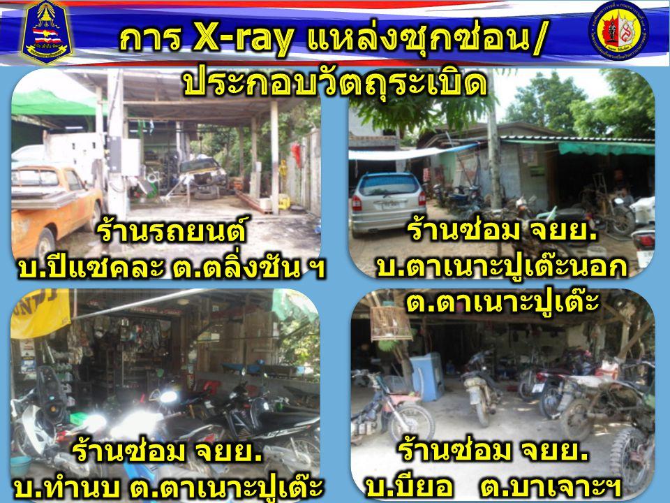 การ X-ray แหล่งซุกซ่อน/ประกอบวัตถุระเบิด