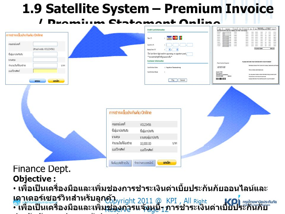 1.9 Satellite System – Premium Invoice / Premium Statement Online