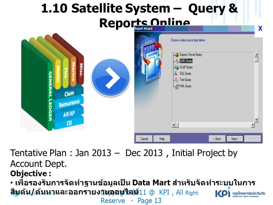 1.10 Satellite System – Query & Reports Online