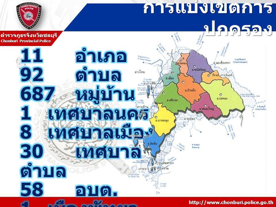 การแบ่งเขตการปกครอง 11 อำเภอ 92 ตำบล 687 หมู่บ้าน 1 เทศบาลนคร