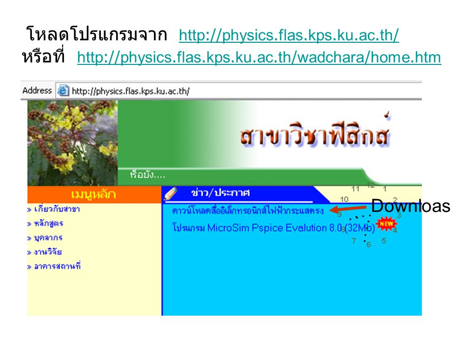 หรือที่ http://physics.flas.kps.ku.ac.th/wadchara/home.htm