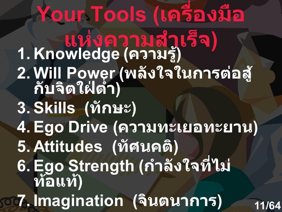 Your Tools (เครื่องมือแห่งความสำเร็จ)