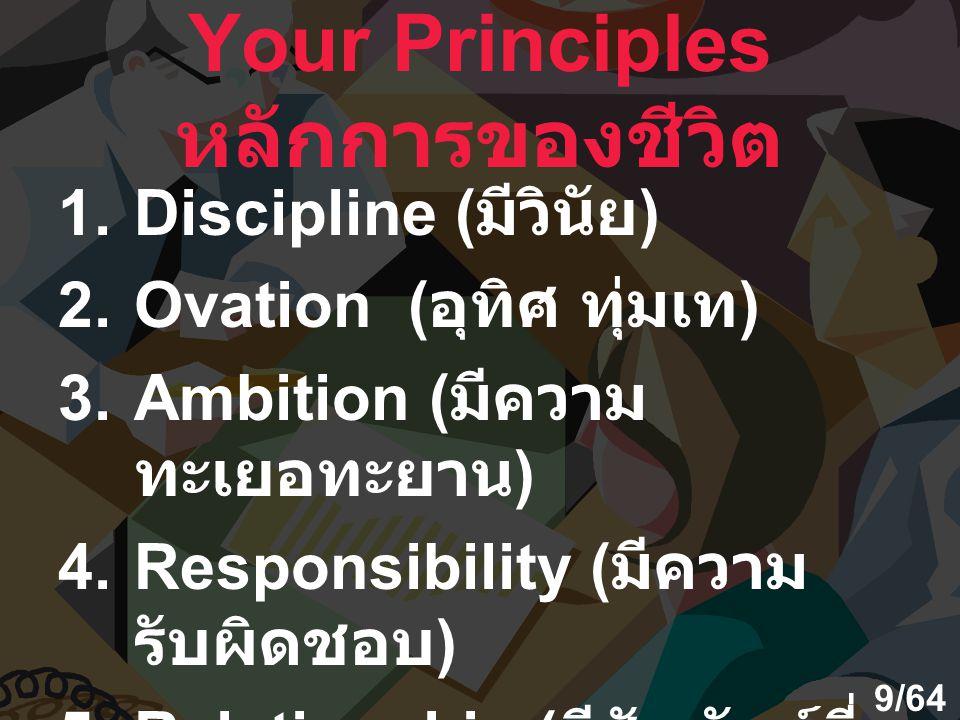 Your Principles หลักการของชีวิต