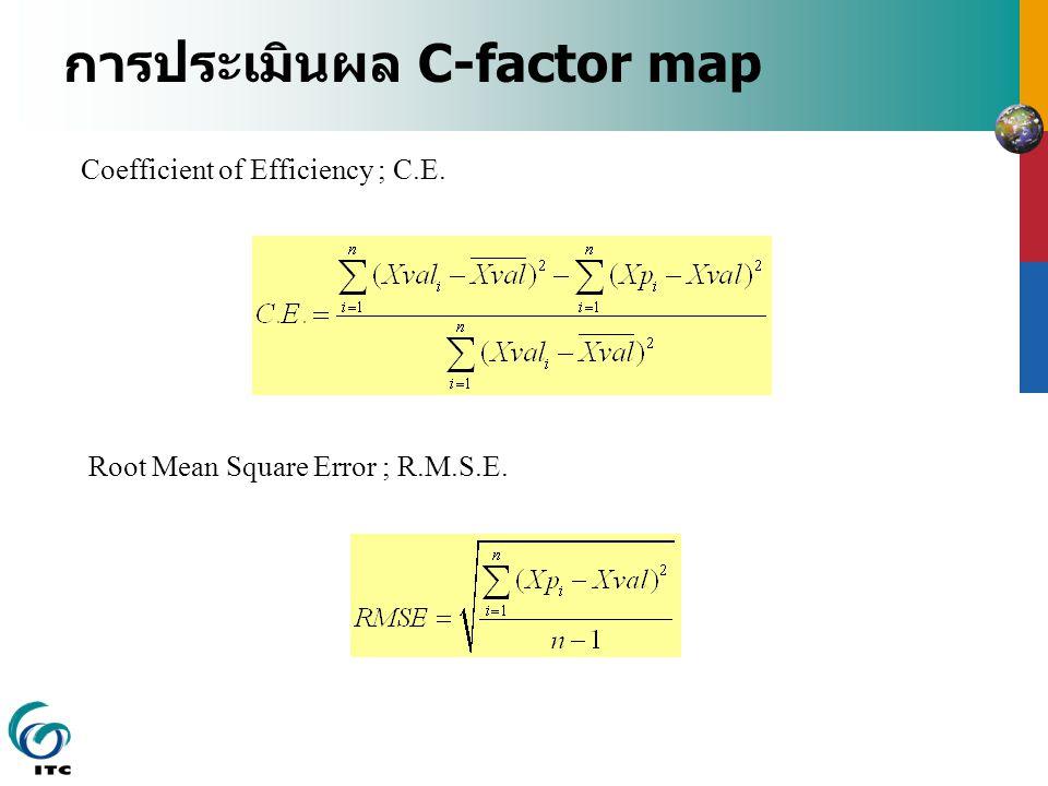 การประเมินผล C-factor map