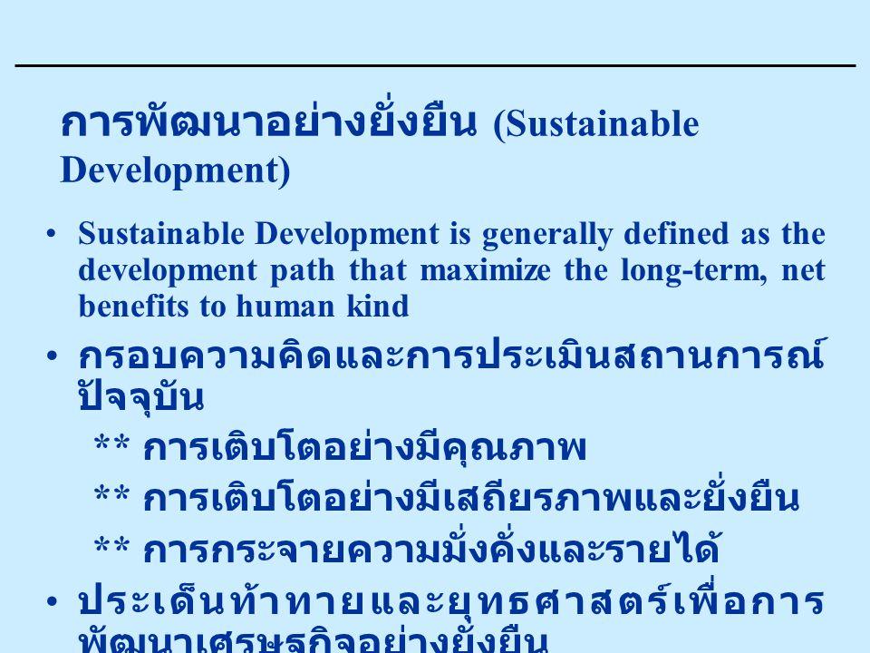 การพัฒนาอย่างยั่งยืน (Sustainable Development)