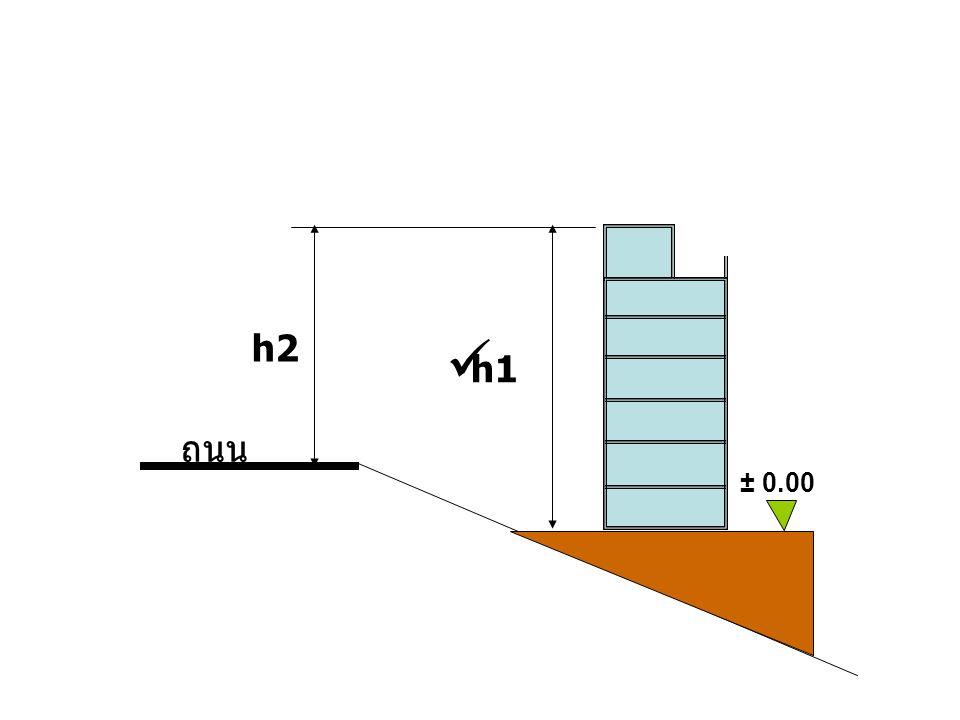 h2  h1 ถนน ± 0.00