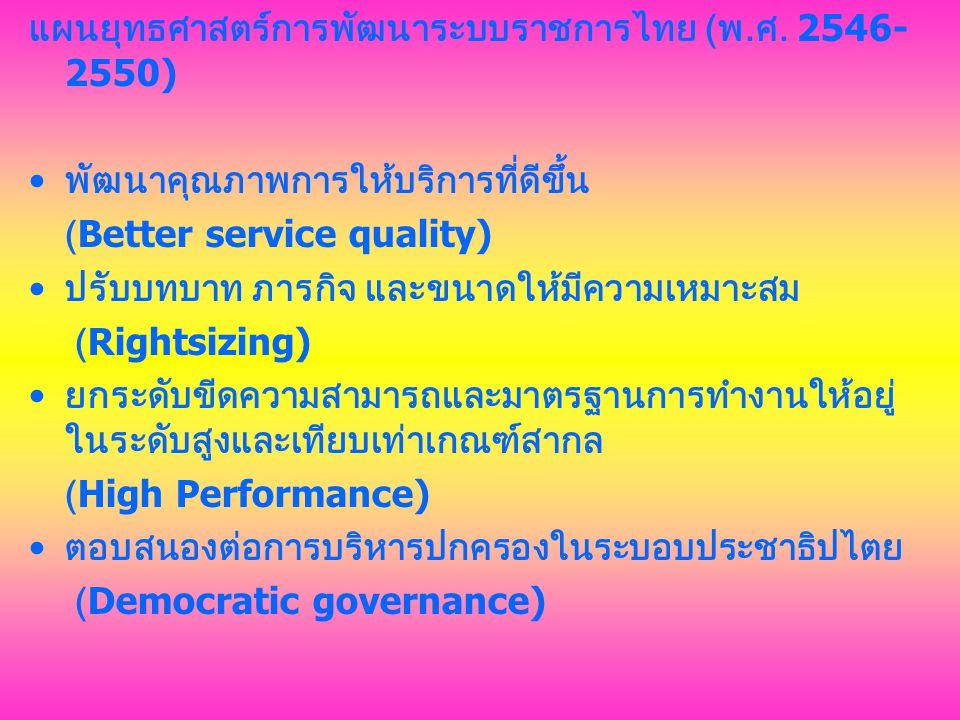 แผนยุทธศาสตร์การพัฒนาระบบราชการไทย (พ.ศ. 2546-2550)