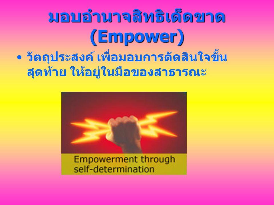 มอบอำนาจสิทธิเด็ดขาด (Empower)