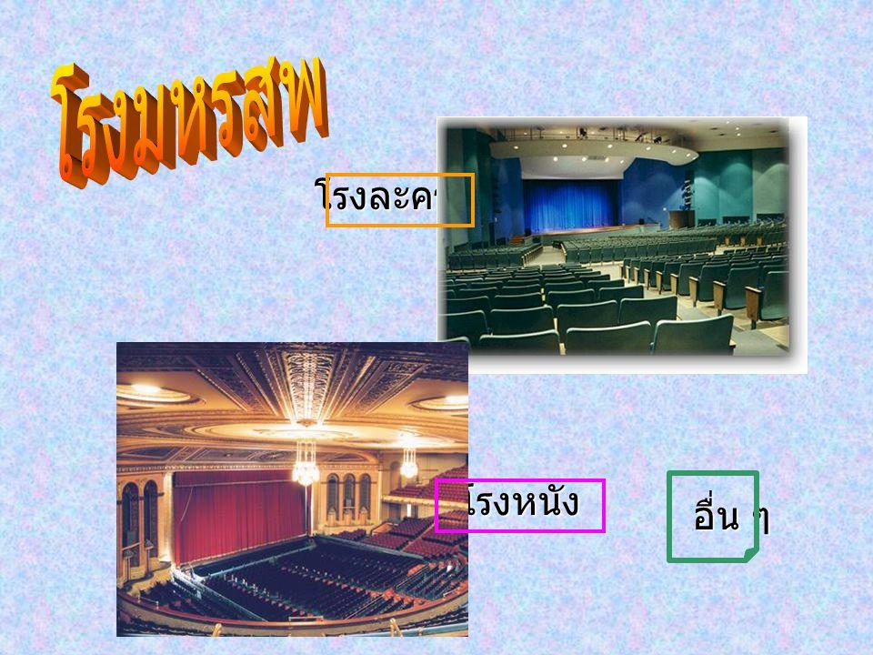 โรงมหรสพ โรงละคร โรงหนัง อื่น ๆ