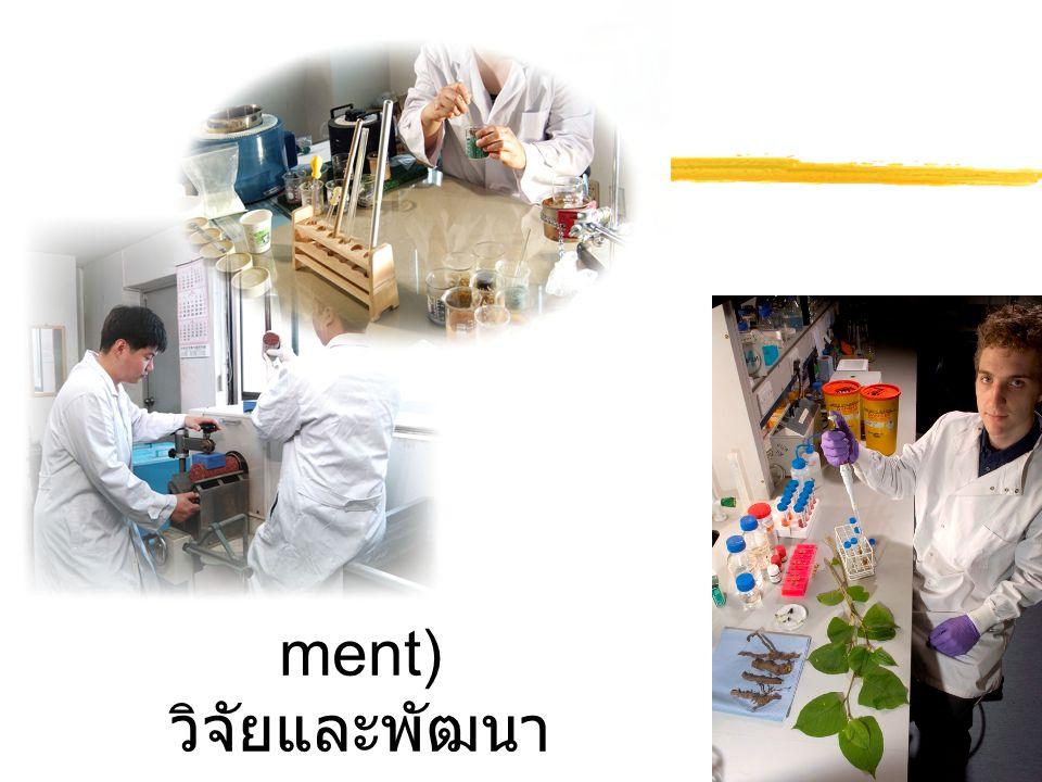 R&D (Research&Development) วิจัยและพัฒนา