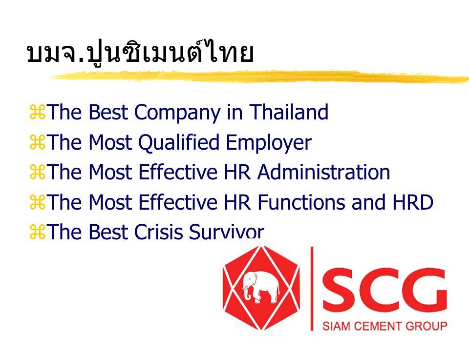 บมจ.ปูนซิเมนต์ไทย The Best Company in Thailand
