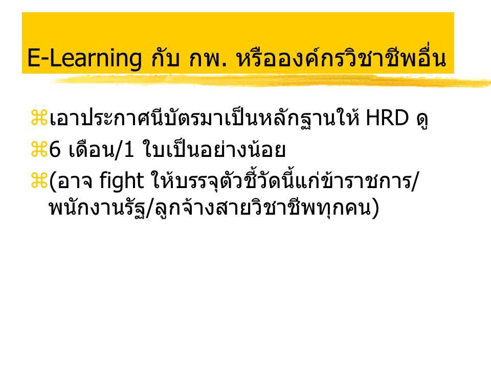 E-Learning กับ กพ. หรือองค์กรวิชาชีพอื่น