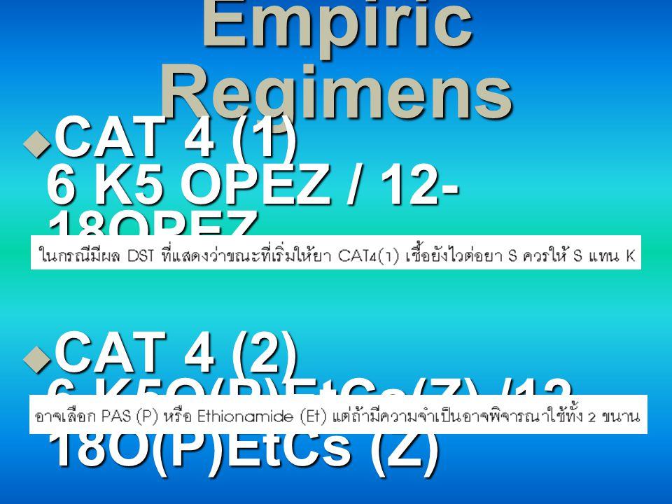 Empiric Regimens CAT 4 (1) 6 K5 OPEZ / 12-18OPEZ