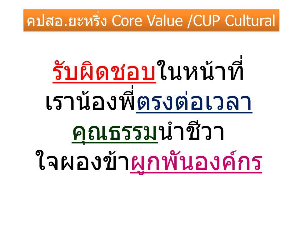 คปสอ.ยะหริ่ง Core Value /CUP Cultural