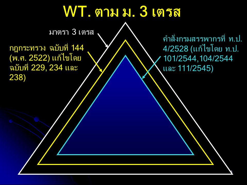 WT. ตาม ม. 3 เตรส มาตรา 3 เตรส คำสั่งกรมสรรพากรที่ ท.ป.
