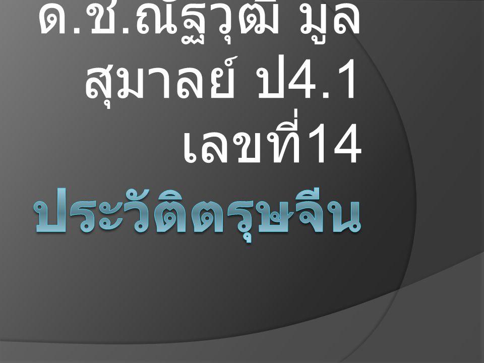 ด.ช.ณัฐวุฒิ มูลสุมาลย์ ป4.1 เลขที่14