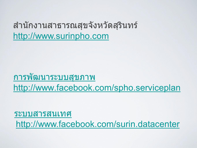 การพัฒนาระบบสุขภาพ http://www.facebook.com/spho.serviceplan