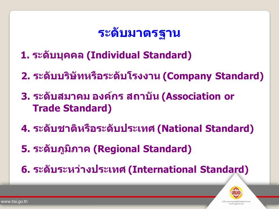 1. ระดับบุคคล (Individual Standard)