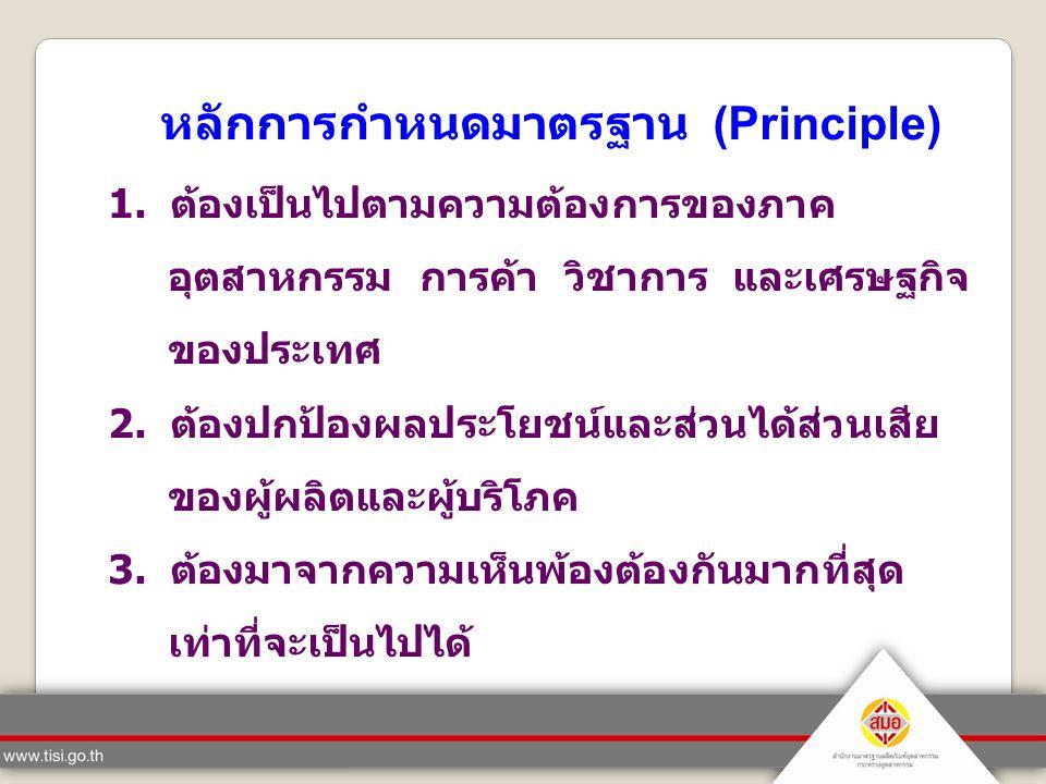 หลักการกำหนดมาตรฐาน (Principle)