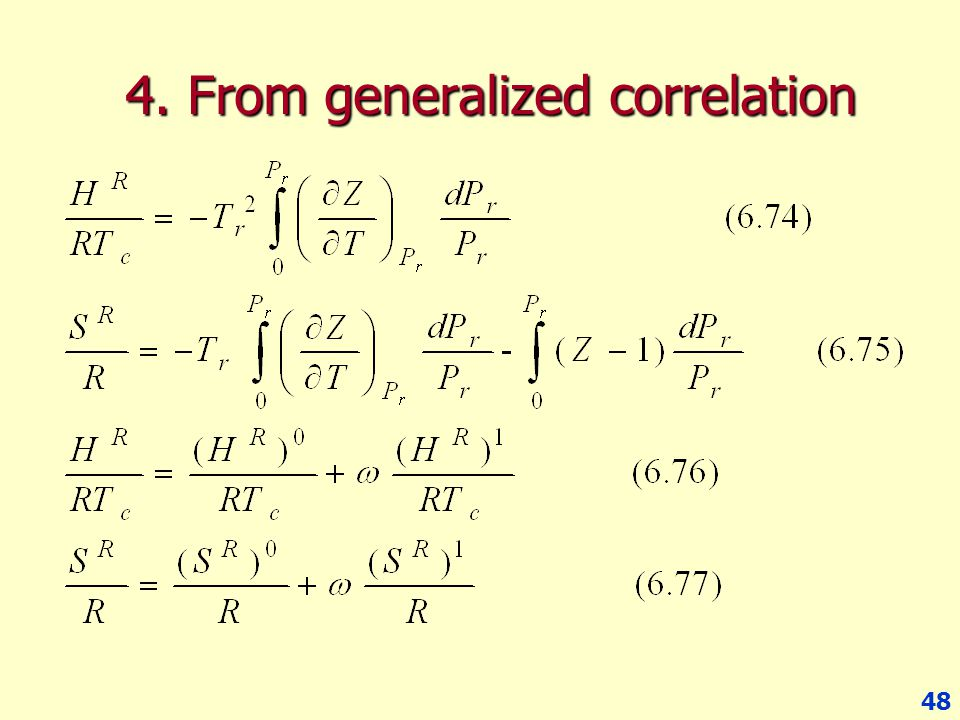4. From generalized correlation