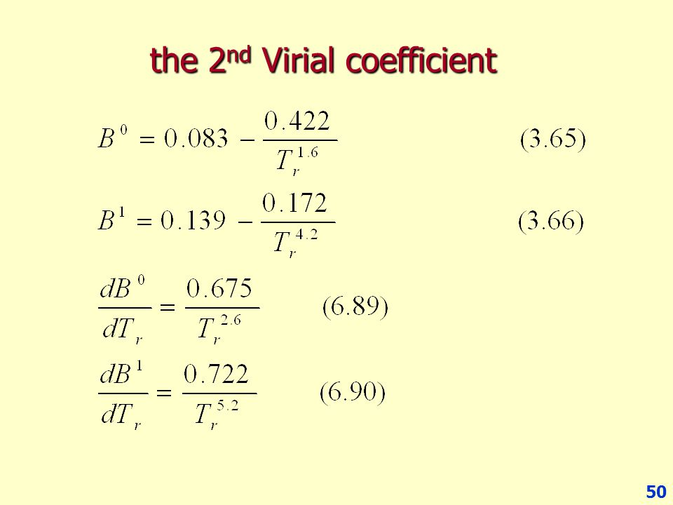 the 2nd Virial coefficient