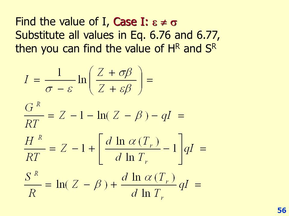 Find the value of I, Case I:   