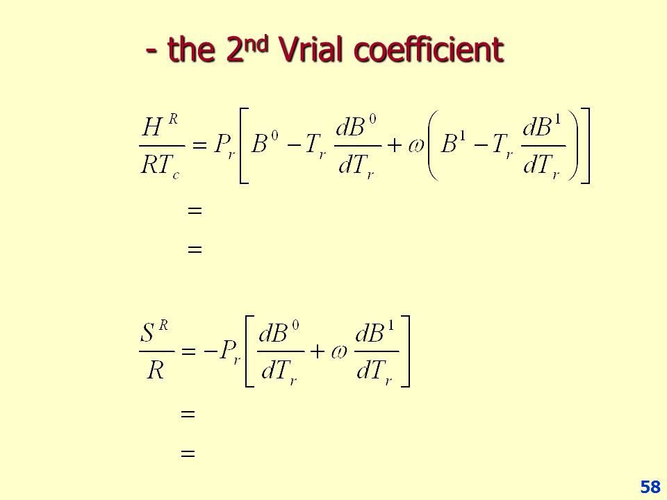 - the 2nd Vrial coefficient