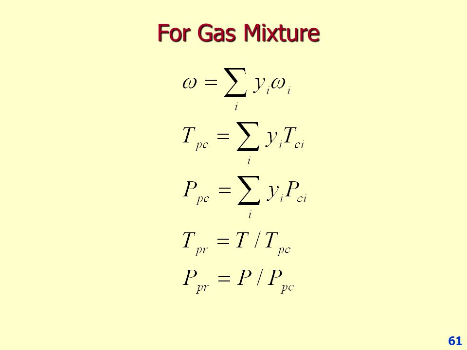 For Gas Mixture