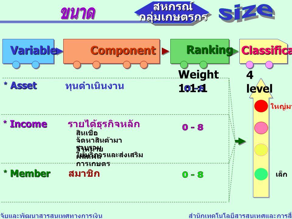0 -8 0 - 8 0 - 8 สหกรณ์ สหกรณ์ size กลุ่มเกษตรกร กลุ่มเกษตรกร Variable