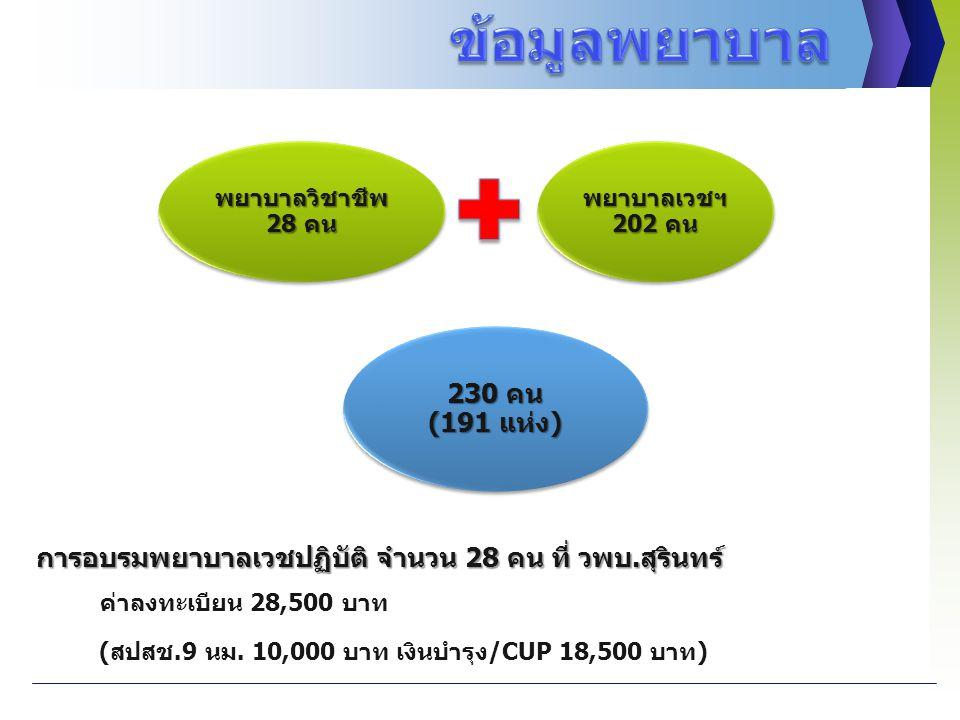 ข้อมูลพยาบาล 230 คน (191 แห่ง)