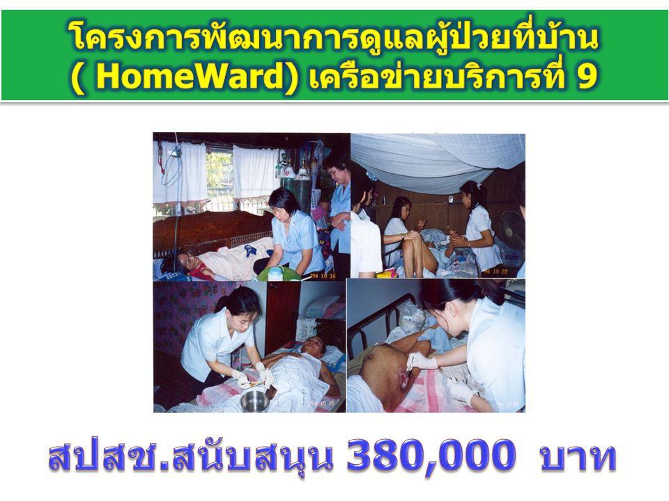 โครงการพัฒนาการดูแลผู้ป่วยที่บ้าน ( HomeWard) เครือข่ายบริการที่ 9