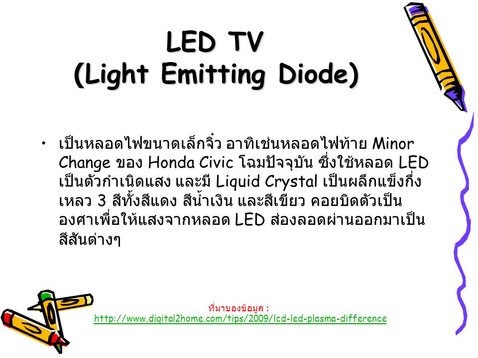 LED TV (Light Emitting Diode)