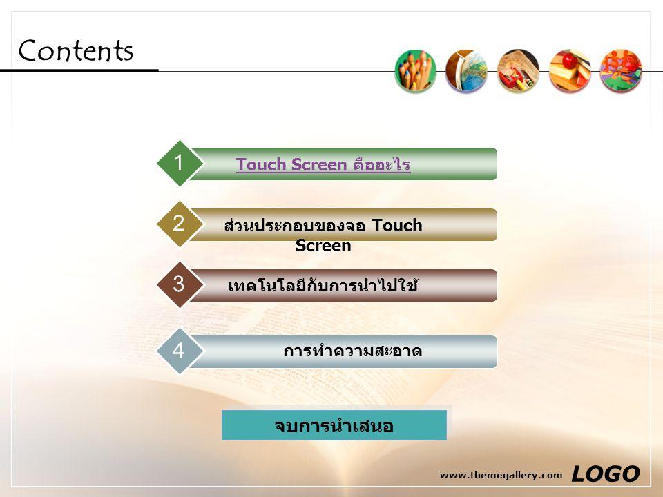ส่วนประกอบของจอ Touch Screen เทคโนโลยีกับการนำไปใช้